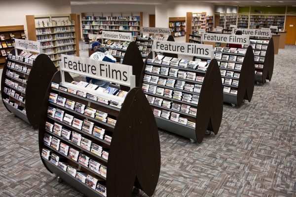 bug media display library furniture