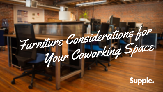 considerations furniture coworking space