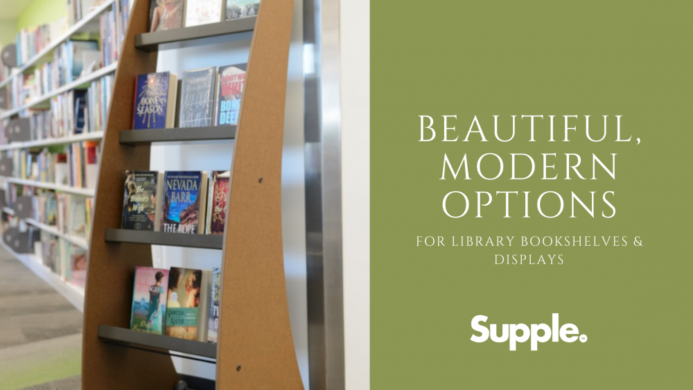 modern library bookshelves displays